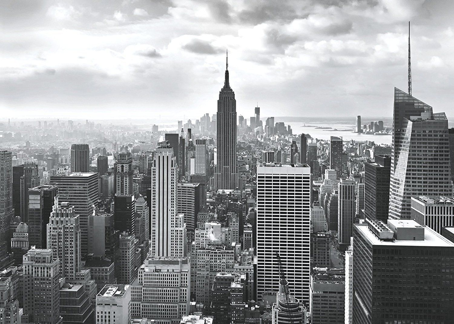 wall mural new york city skyline photo wallpaper black whitedetails about wall mural new york city skyline photo wallpaper black white 368x254cm adhesive